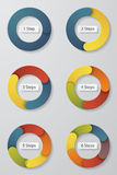 Collection of colorful step circle. vector illustration. Royalty Free Stock Photography