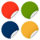 Collection of colorful stickers Royalty Free Stock Photography