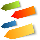 Collection - colorful sticky notes arrow Royalty Free Stock Photography