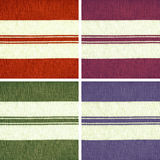 Collection of colorful striped woven fabric Royalty Free Stock Images