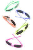 Collection of colorful sunglasses Royalty Free Stock Photography
