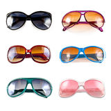Collection of colorful sunglasses Royalty Free Stock Photo
