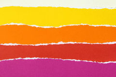 Collection of colorful torn paper Stock Photography