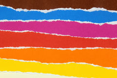Collection of colorful torn papers stock images