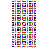 Collection of colorful universal icons Royalty Free Stock Images