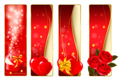 Collection of colorful of Valentine\\\'s banne Royalty Free Stock Photos