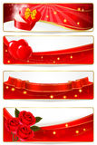 Collection of colorful of Valentine\\\'s banne Royalty Free Stock Image