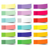 Collection of colorful vector sticky notes Stock Image