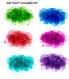 Collection of colorful watercolor backgrounds stock illustration