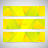 Collection of the 3 colorful web banners . Can be. Used for your design .Vector illustration Stock Photography