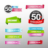 038 Collection of colorful web tag banner promotion sale discoun. Collection of colorful web tag banner promotion sale discount style vector illustration eps10 royalty free illustration