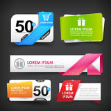 Collection of colorful web tag banner promotion sale discount st Royalty Free Stock Image