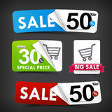 Collection of colorful web tag banner promotion sale discount  Royalty Free Stock Photo