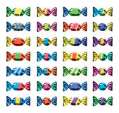 Collection of colorful wrapped candies. vector  Royalty Free Stock Photos