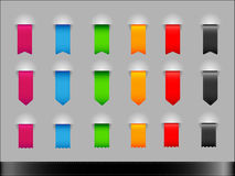Collection of colorfull ribbons. Collection of colorfull different shapes ribbons Royalty Free Stock Images
