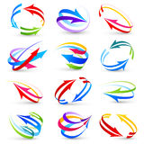 Collection of colour arrows vector illustration
