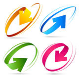 Collection of colour arrows. Vector illustration Royalty Free Stock Images