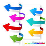 Collection of colour arrows Stock Image