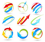 Collection of colour arrows Stock Images