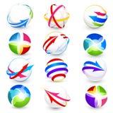 Collection of colour icons Stock Photos