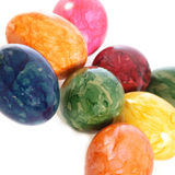 Collection of colourful marbled Easter Eggs Royalty Free Stock Photos