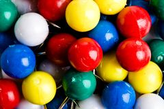Collection of colourful marbles stock image
