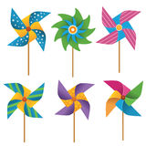 Collection of  Colourful Pinwheels Stock Photo