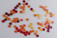 Collection of Colourful Sewing Buttons Royalty Free Stock Photo