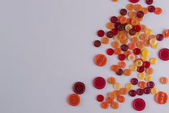 Collection of Colourful Sewing Buttons Royalty Free Stock Photography
