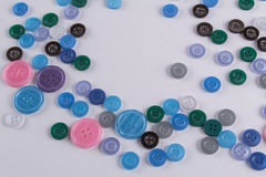 Collection of Colourful Sewing Buttons Stock Photo