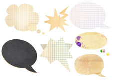 Collection of comic speech bubbles Stock Photos