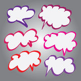 Collection of Comic Style Bubbles in Vector Format. Color can be changed by one click Stock Image