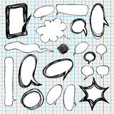 Collection of comic style speech bubbles. Stock Photos