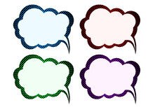 A collection of comic style speech bubbles. Vector Royalty Free Stock Photography