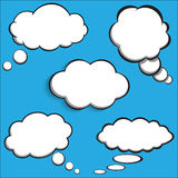 Collection of comic style speech bubbles Stock Images