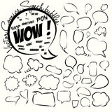 Collection of comic style speech bubbles. Vector. Stock Images