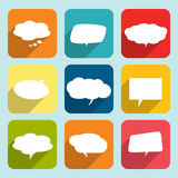 Collection of comic style white speech bubbles. Stock Image
