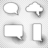 Collection comics speech balloons icons royalty free illustration