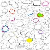 Collection comique d'éléphant de bulle de causerie et de parole de style Image libre de droits