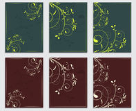 Collection of commercial leaflets and templates with natural patterns Royalty Free Stock Photos