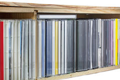 Collection of Compact Discs (CDs) Stock Photography