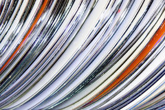 Collection of Compact Discs Royalty Free Stock Photography