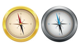 Collection of compasses isolated Stock Photo