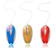 Collection of computer mice Stock Photography
