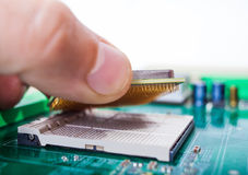 Collection of computer parts. And repair motherboard Stock Images