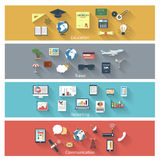 Collection of concept icons Stock Photography