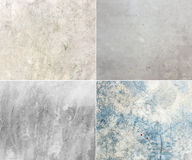 Collection of concrete wall,grunge texture background,four style Stock Photos