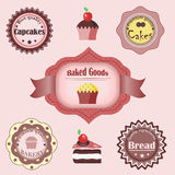 Collection of confectionery labels Royalty Free Stock Photos