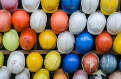 Collection of Construction Safety Helmet Royalty Free Stock Images
