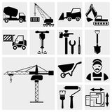 Construction icon set. Collection of construction vector icons set isolated on grey background.EPS file available Royalty Free Stock Photography